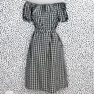 Who what wear sz S check plaid gingham  midi dress